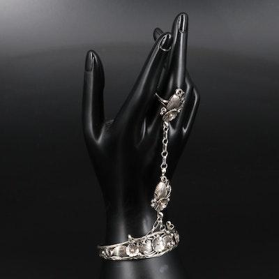 Southwestern Style Sterling Silver Harem Bracelet