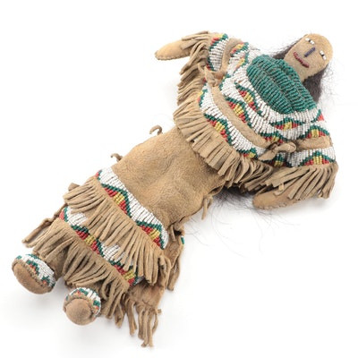 Plains Style Beaded Leather Doll