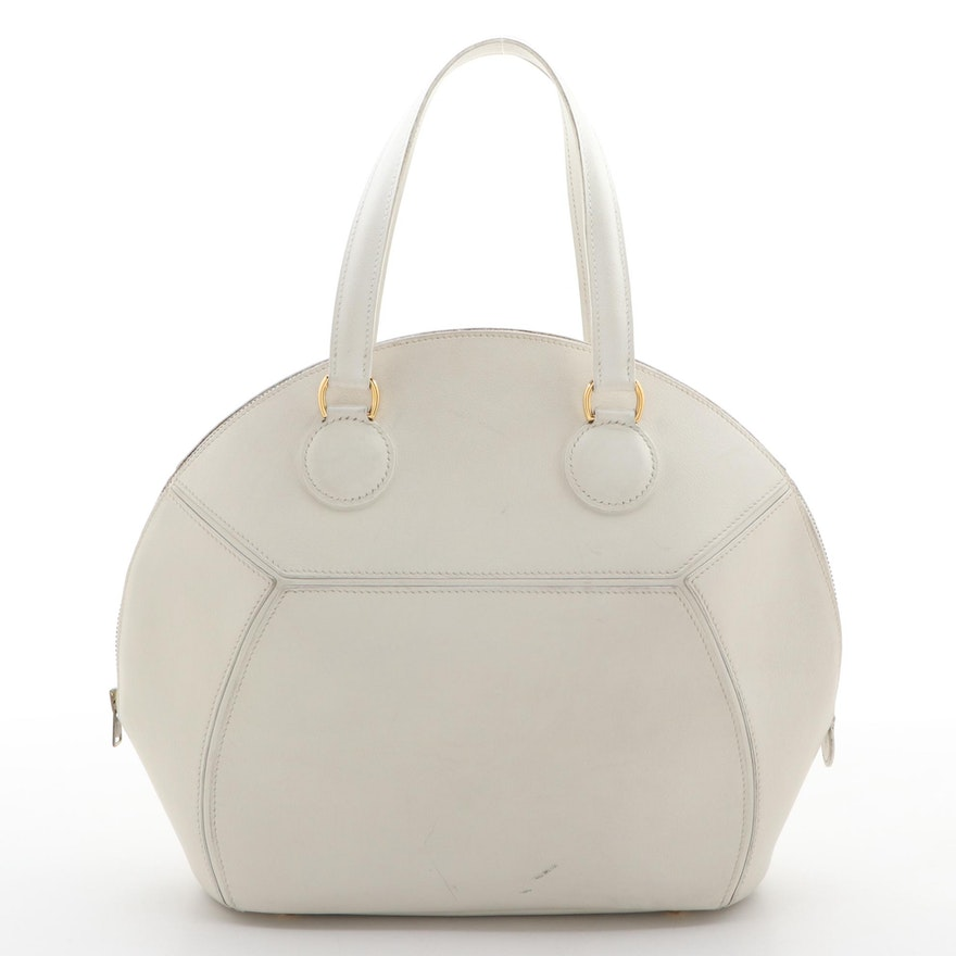 Hermès Ile de Shiki Domed Bag in Craie Gulliver Leather