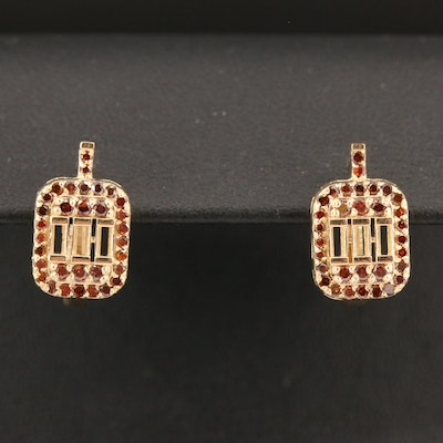 14K Diamond Semi-Mount Earrings