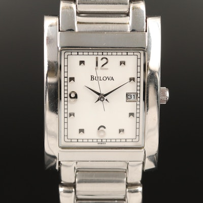 Bulova Date Stainless Steel Quartz Wristwatch