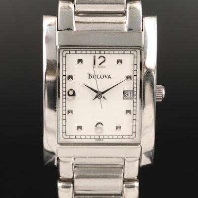 Bulova Date Stainless Steel Quartz Wristwatch