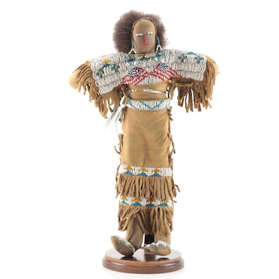 Plains Style Beaded Hide Doll