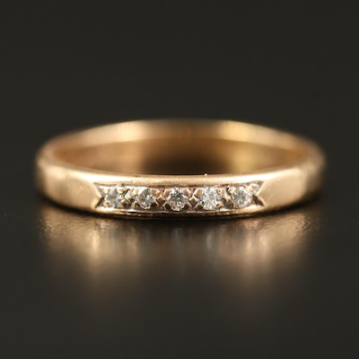 14K Diamond Five Stone Band
