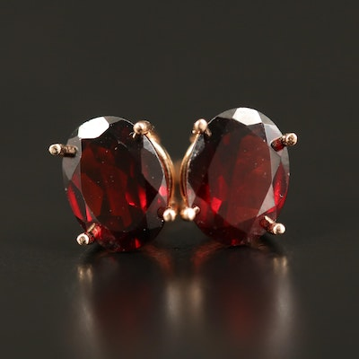 14K Garnet Stud Earrings