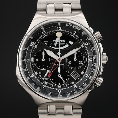 Citizen Eco-Drive Calibre 2100 Chronograph Stainless Steel Wristwatch