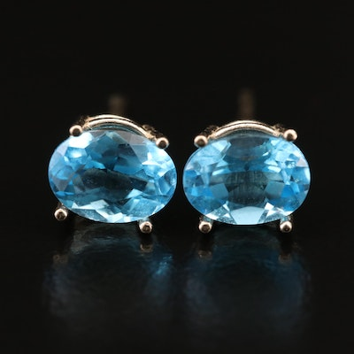 14K Topaz Stud Earrings