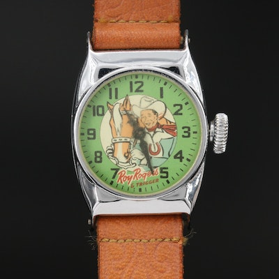 Vintage Roy Rogers & Trigger Stem Wind Wristwatch