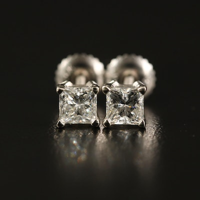 14K 0.98 CTW Diamond Stud Earrings