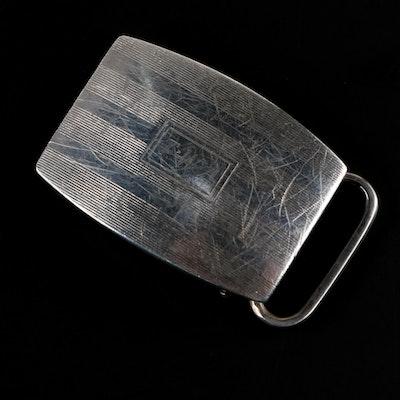 B.A. Ballou & Co. Monogrammed Sterling Silver Belt Buckle