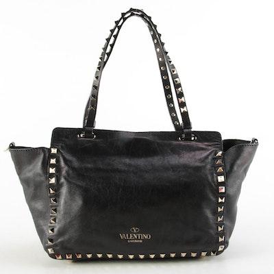 Valentino Pagoda Rockstud Small Two-Way Shopper Bag