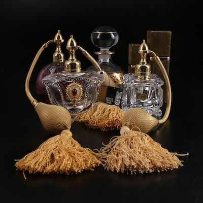 Saint Louis Crystal and Marcel Franck Perfume Bottles and Atomizers