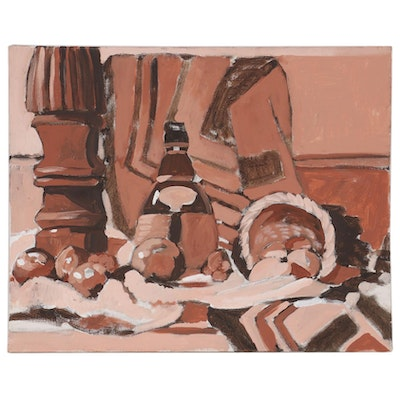 William Meyer Monochromatic Still Life Acrylic Painting, 21st Century