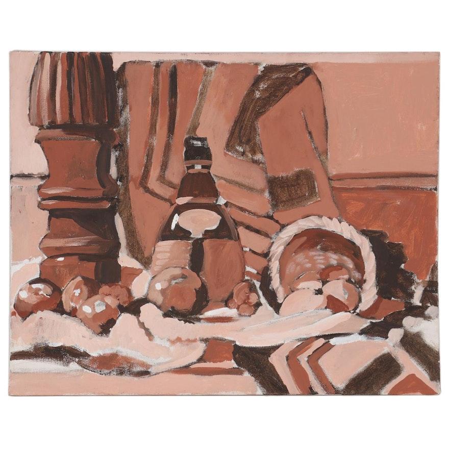 William Meyer Monochromatic Still Life Acrylic Painting, 21st Century