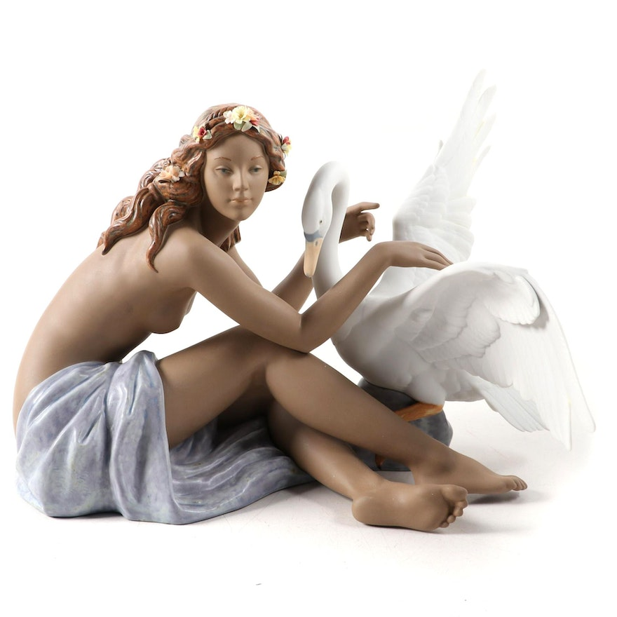 "Lladró ""Leda and the Swan"" Porcelain Figurine, 2002"