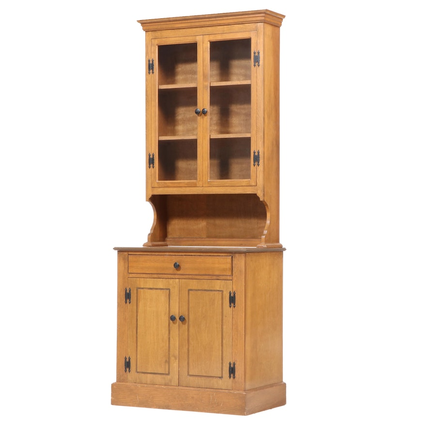American Colonial Style Maple Step-Back Cupboard