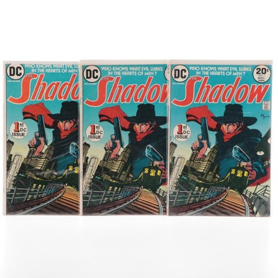 """Three First Issue """"The Shadow #1"""" Comics, 1973"""