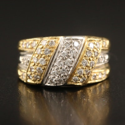 18K Two-Tone Diamond Ring