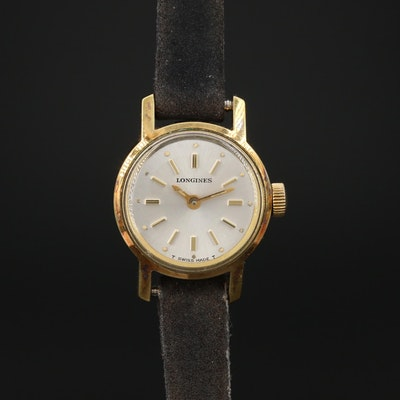 1968 Longines Ref. # 7702 Gold Plated Stem Wind Wristwatch