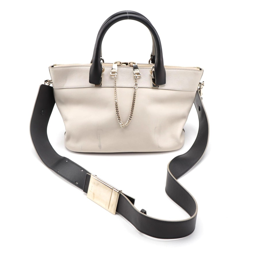 Chloé Baylee Two-Way Satchel in Bicolor Leather
