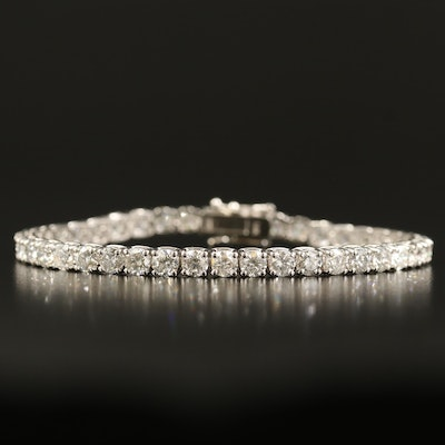 14K 9.55 CTW Diamond Tennis Bracelet