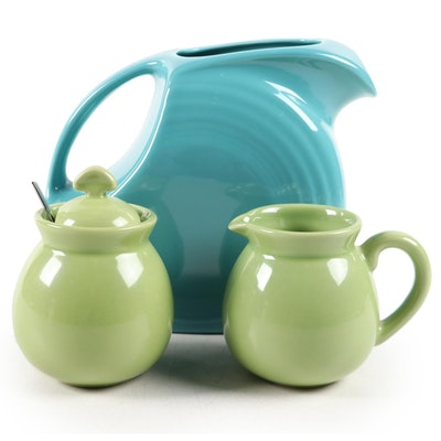 Chantal Ceramic Creamer and Sugar Jar with Ceramic Pitcher