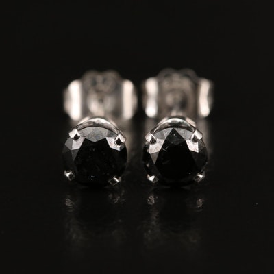 14K 0.49 CTW Black Diamond Stud Earrings