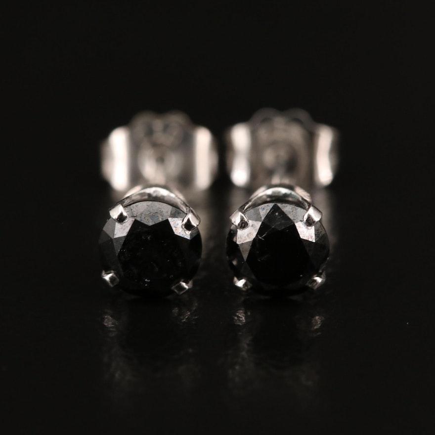 14K 0.49 CTW Black Diamond Stud Earrings