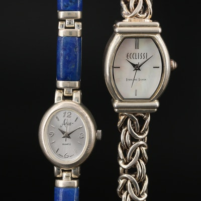 Sterling Silver Quartz Wristwatches