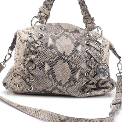 Michael Kors Python Print Two-Way Shoulder Bag