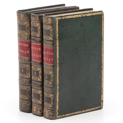 """The Tour of Doctor Syntax"" Three-Volume Set by William Combe, Early 19th C."