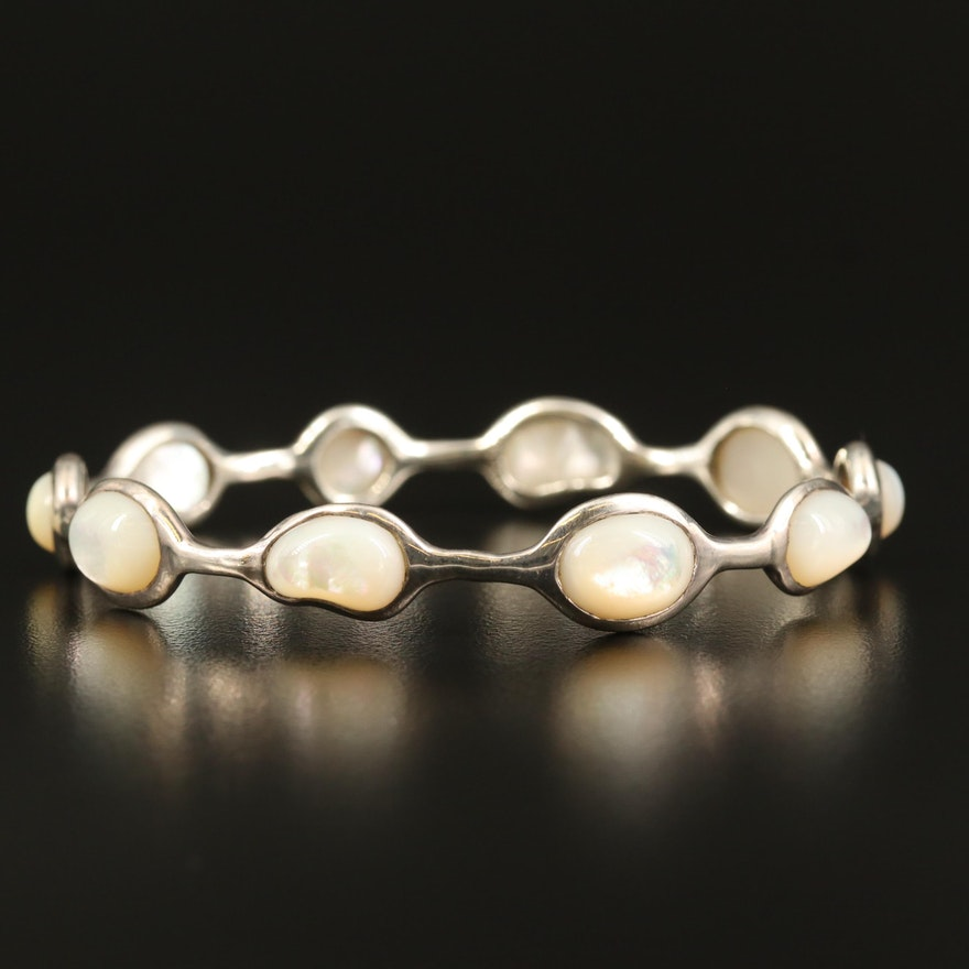 Ippolita Sterling Silver Mother of Pearl Bangle