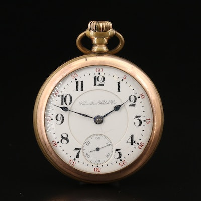 "1903 Hamilton ""The Banner"" Railroad Grade Gold Filled Pocket Watch"