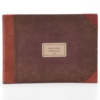 1890 Album of Photographs from Egypt and Yemen