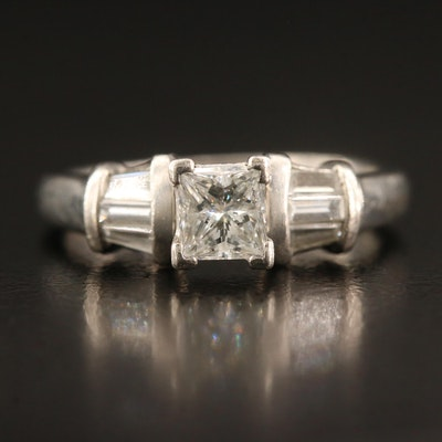 Platinum Diamond Cathedral Ring
