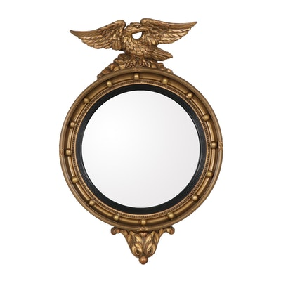 Atsonea English Regency Style Eagle Convex Wall, Mid-20th Century