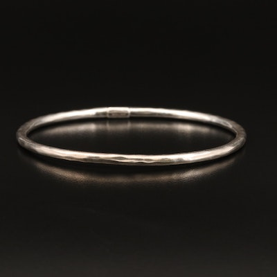 Ippolita Sterling Hammered Oval Bangle