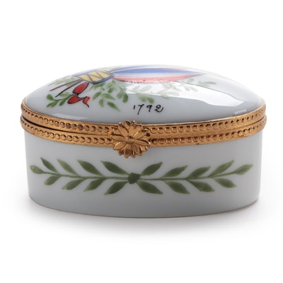 Hand-Painted Limoges Box with French Revolution Motif