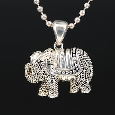 "Lagos Sterling Silver ""Rare Wonders"" Elephant Necklace"