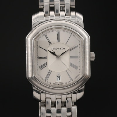 Tiffany & Co. Atlas Stainless Steel Automatic Wristwatch