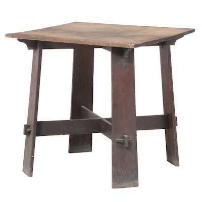 Arts and Crafts Oak Table, Attributed to Charles P. Limbert, circa 1910