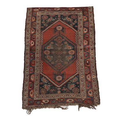 3'7 x 5'6 Hand-Knotted Persian Khamseh Tribal Rug