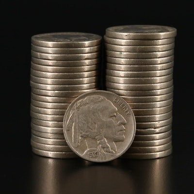 Roll of Forty 1937 Buffalo Nickels
