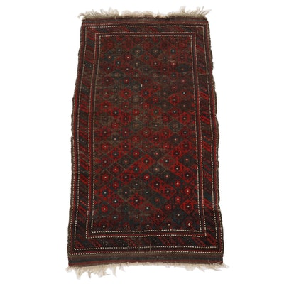 3'2 x 6'5 Hand-Knotted Persian Kurdish Wool Area Rug