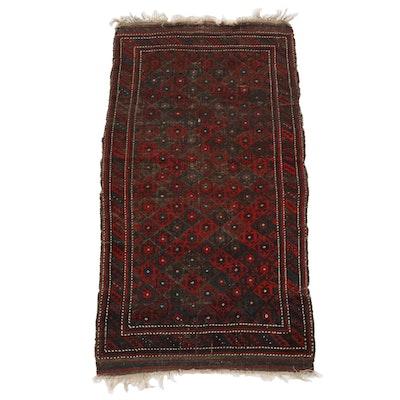 3'2 x 6'5 Hand-Knotted Persian Kurdish Wool Area Rug