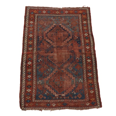 4' x 6' Hand-Knotted Caucasian Kazak Wool Area Rug