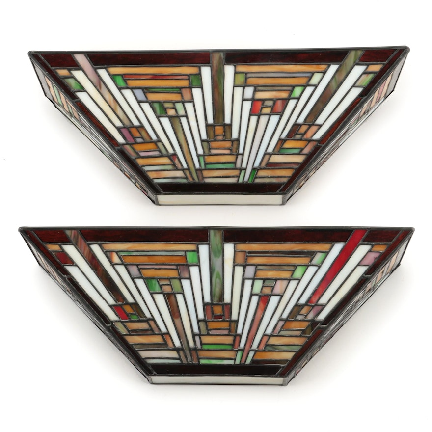 """Pair of Quoizel Collectibles """"Tapestry"""" Two-Light Pocket Wall Sconces"""