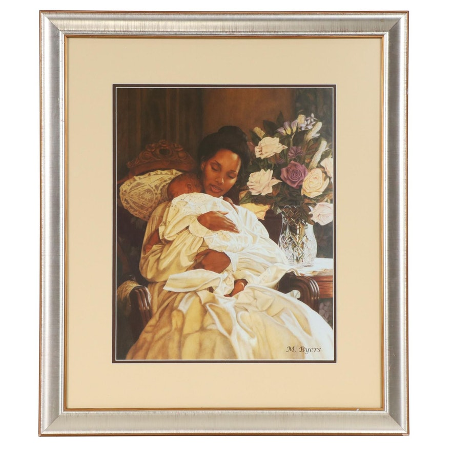 """Offset Lithograph after Melinda Byers """"In Her Loving Arms"""""""
