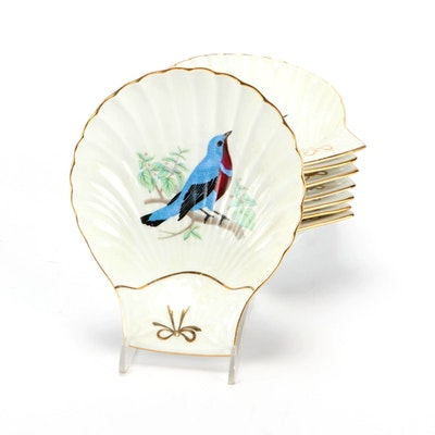 Louis Lourioux Le Faune Porcelain Shell Shaped Dishes