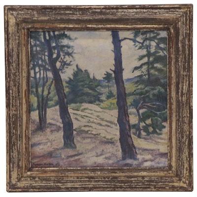 Richard Nicolas Oil Painting of Landscape near Alt Töplitz and Leest, 1932